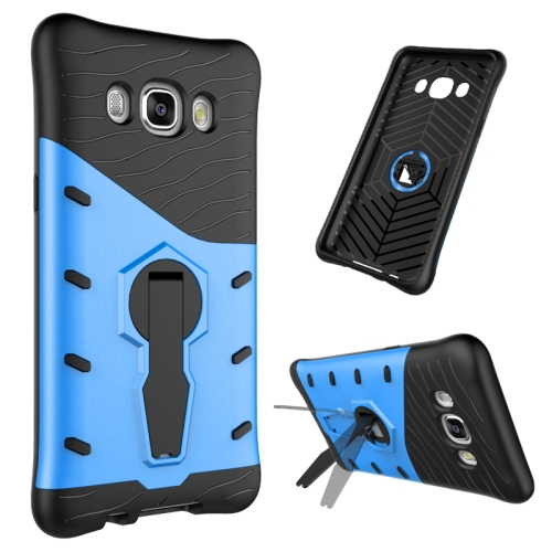 Buy For Samsung Galaxy J5, 2016 / J510 Shock-Resistant 360 Degree Spin Tough Armor TPU+PC Combination Case with Holder, Blue for $2.44 in SUNSKY store