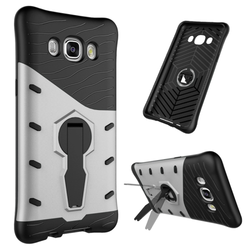 Buy For Samsung Galaxy J5, 2016 / J510 Shock-Resistant 360 Degree Spin Tough Armor TPU+PC Combination Case with Holder, Silver for $2.44 in SUNSKY store