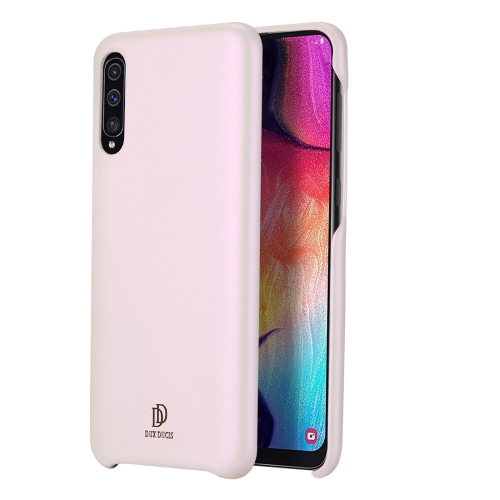 DUX DUCIS Skin Lite Series Ultra-thin Shockproof PU Case for Galaxy A50 (Pink)
