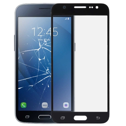for Galaxy J2 (2016) /J210 Front Screen Outer Glass Lens(Black)