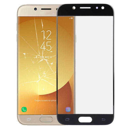 Front Screen Outer Glass Lens for Galaxy J7 (2017) / J730(Black)