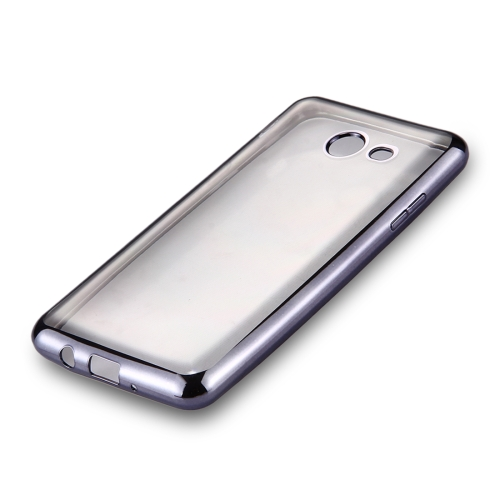 Buy For Samsung Galaxy J3, 2017 (US Version) Electroplating Frame Soft TPU Protective Back Cover Case, Grey for $1.22 in SUNSKY store