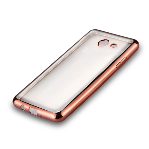 Buy For Samsung Galaxy J3, 2017 (US Version) Electroplating Frame Soft TPU Protective Back Cover Case (Rose Gold) for $1.22 in SUNSKY store