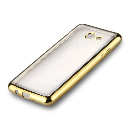 Buy For Samsung Galaxy J7, 2017 (US Version) Electroplating Frame Soft TPU Protective Back Cover Case, Gold for $1.22 in SUNSKY store