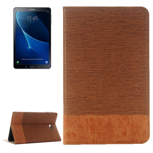 Buy For Samsung Galaxy Tab A 10.1 / T580 Cross Texture Horizontal Flip Leather Case with Holder & Card Slots & Wallet, Brown for $5.89 in SUNSKY store