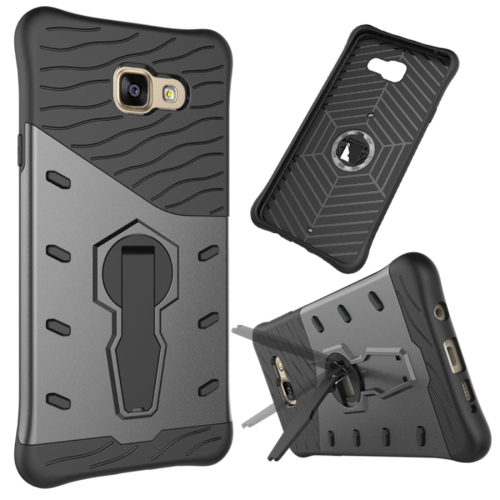 Buy For Samsung Galaxy A7, 2016 / A710 Shock-Resistant 360 Degree Spin Tough Armor TPU+PC Combination Case with Holder, Black for $2.32 in SUNSKY store