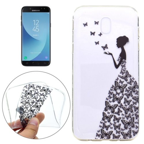 Buy For Samsung Galaxy J7, 2017 (EU Version) Butterfly and Girl Pattern TPU Protective Back Cover Case for $1.21 in SUNSKY store
