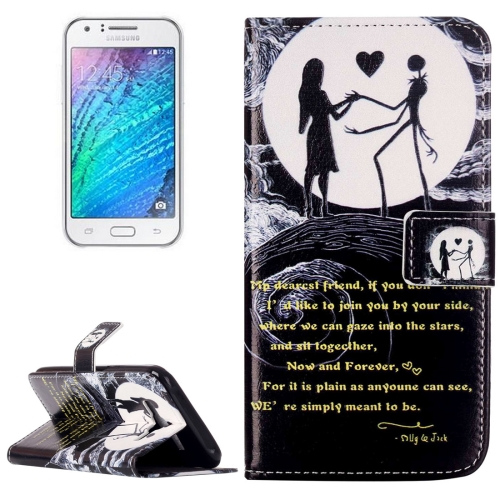 Buy For Samsung Galaxy J5 / J500 Rilievo Carving Lovers on the Moon Pattern Horizontal Flip Leather Case with Magnetic Buckle & Holder & Card Slots & Wallet for $2.13 in SUNSKY store