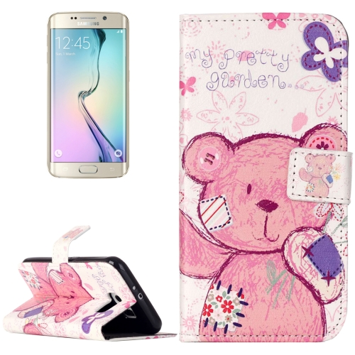 Buy For Samsung Galaxy S6 / G920 Rilievo Carving Little Bear Pattern Horizontal Flip Leather Case with Magnetic Buckle & Holder & Card Slots & Wallet for $2.14 in SUNSKY store