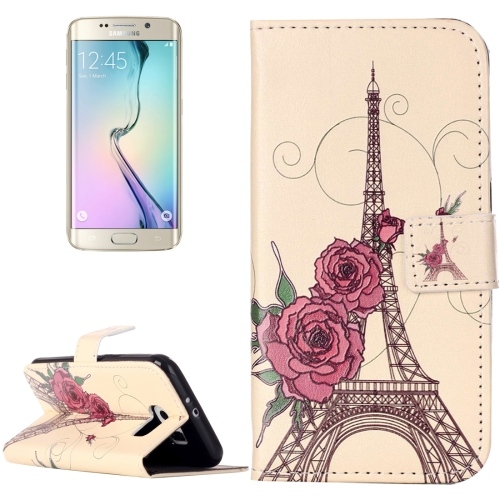 Buy For Samsung Galaxy S6 / G920 Rilievo Carving Rose Tower Pattern Horizontal Flip Leather Case with Magnetic Buckle & Holder & Card Slots & Wallet for $2.14 in SUNSKY store