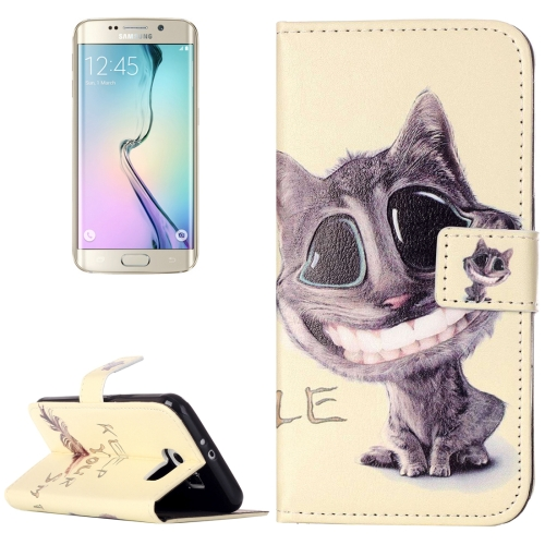 Buy For Samsung Galaxy S6 / G920 Rilievo Carving Lovely Smiling Cat Pattern Horizontal Flip Leather Case with Magnetic Buckle & Holder & Card Slots & Wallet for $2.14 in SUNSKY store