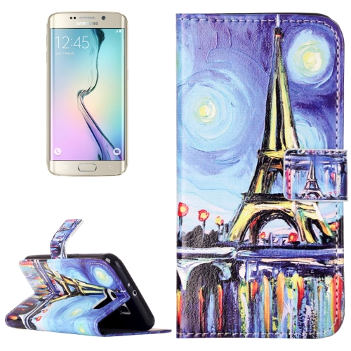 Buy For Samsung Galaxy S6 / G920 Rilievo Carving Canvas Tower Pattern Horizontal Flip Leather Case with Magnetic Buckle & Holder & Card Slots & Wallet for $2.14 in SUNSKY store