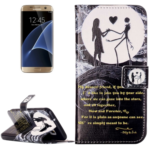 Buy For Samsung Galaxy S7 / G930 Rilievo Carving Lovers on the Moon Pattern Horizontal Flip Leather Case with Magnetic Buckle & Holder & Card Slots & Wallet for $2.14 in SUNSKY store