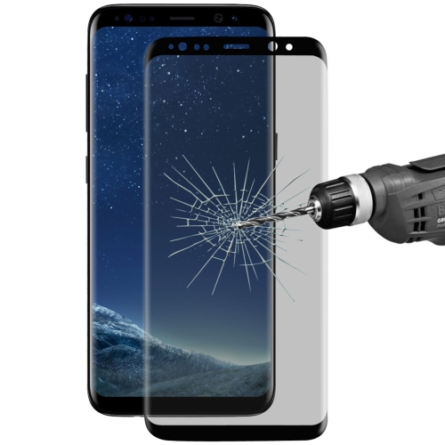 Buy ENKAY Hat-Prince for Samsung Galaxy S8+ / G9550 0.26mm 9H Surface Hardness 3D Privacy Anti-glare Full Screen Tempered Glass Screen Protector, Black for $6.57 in SUNSKY store