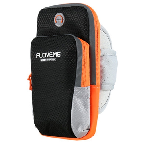 FLOVEME Universal Sport Nylon Armband Case ,Suitable for Smartphones Below 6 Inch (Black) universal stylish waterproof bag with sport armband for iphone cell phone white black