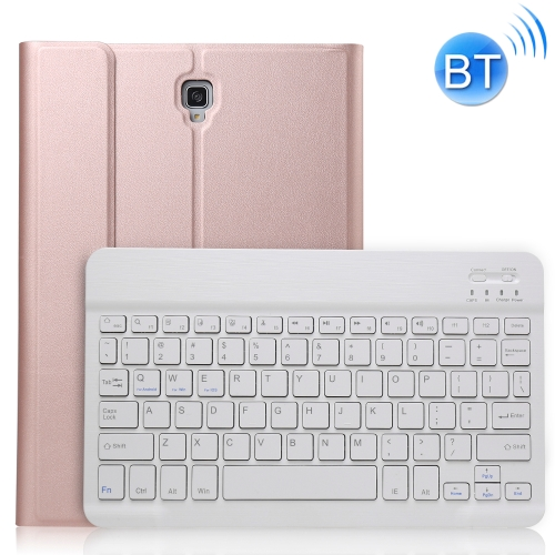 Ultra-thin Detachable Magnetic Bluetooth Keyboard Leather Case for Galaxy Tab A 10.5 T590 / T595, with Holder(Rose Gold)