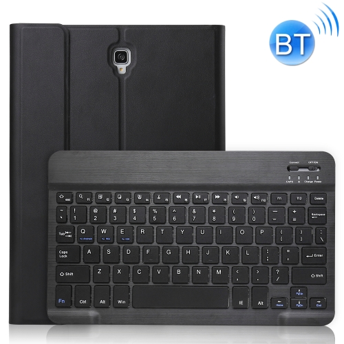 Ultra-thin Detachable Bluetooth Keyboard Leather Case for Galaxy Tab S4 10.5 T830 / T835, with Holder (Black)