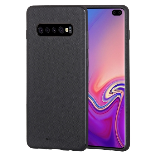 MERCURY GOOSPERY STYLE LUX Series Shockproof Soft TPU Case for Galaxy S10+ (Black)