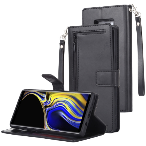 GOOSPERY DETACHABLE DIARY Horizontal Flip Leather Case with Holder & Card Slots & Zipper & Wallet for Galaxy Note 9 (Black)