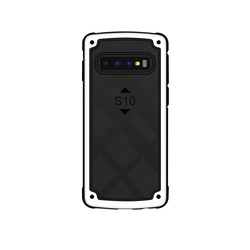 Shockproof PC + TPU Case for Galaxy S10+ (White)