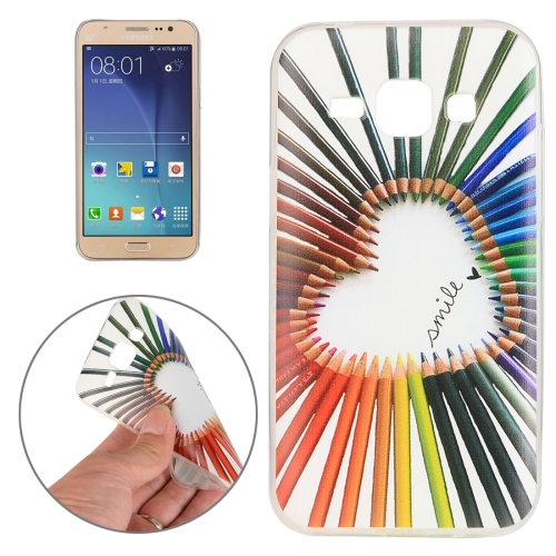 For Samsung Galaxy J5 Color Pencil Pattern TPU Protective Case