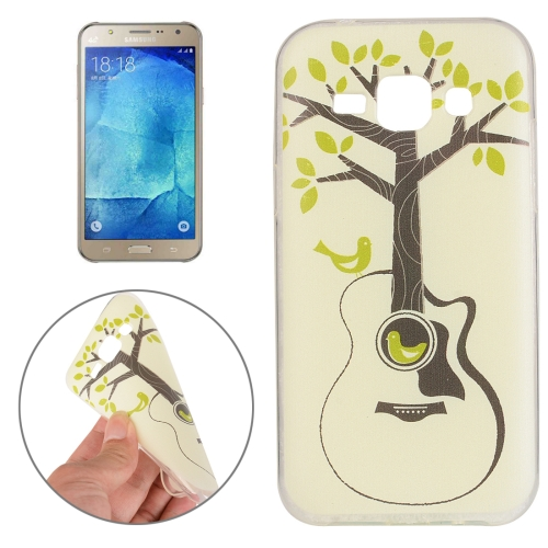 For Samsung Galaxy J7 Tree and Bird Pattern TPU Protective Case