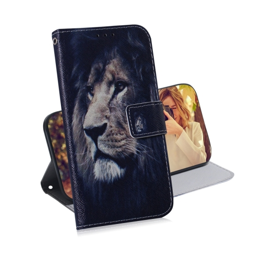 Lion Pattern Coloured Drawing Horizontal Flip Leather Case for Galaxy A50, with Holder & Card Slots & Wallet фото