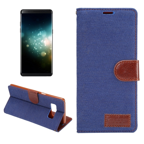 Buy For Samsung Galaxy Note 8 Denim Texture TPU Horizontal Flip Leather Protective Case with Holder & Card Slots (Dark Blue) for $2.74 in SUNSKY store