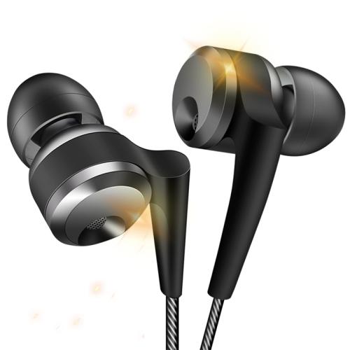 QKZ KD10 CNC Aviation Aluminum Metal Carved Ear Shell Coaxial Four Unit Music Headphones, Microphone Version