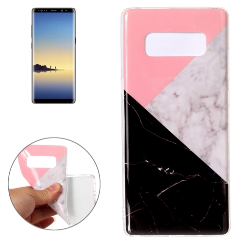 Buy For Samsung Galaxy Note 8 Pink Black Color Matching Marble Pattern TPU Shockproof Protective Back Cover Case for $1.27 in SUNSKY store