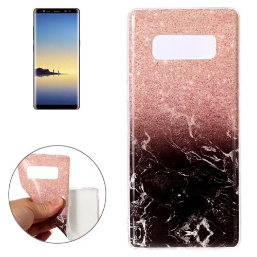 Buy For Samsung Galaxy Note 8 Black Gold Marble Pattern TPU Shockproof Protective Back Cover Case for $1.20 in SUNSKY store