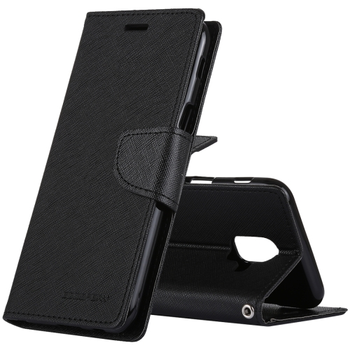 MERCURY GOOSPERY FANCY DIARY Horizontal Flip PU Leather Case for Galaxy A6 (2018), with Holder & Card Slots & Wallet(Black) a 556 protective pu leather case w card holder slots for samsung galaxy s3 i9300 black