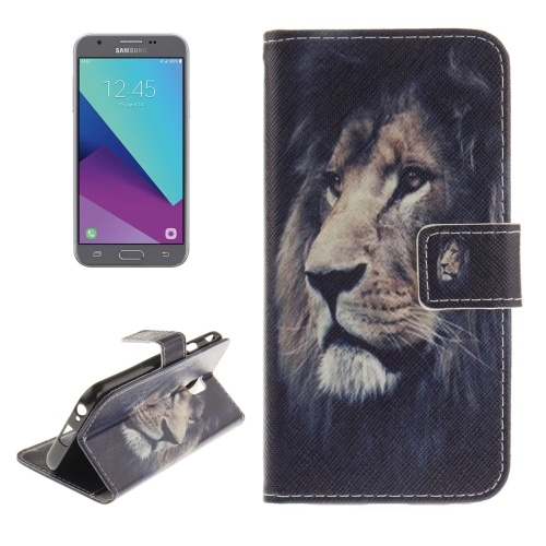 Buy For Samsung Galaxy J3, 2017 (EU Version) Lion Pattern Horizontal Flip Leather Case with Holder & Card Slots & Wallet for $2.61 in SUNSKY store