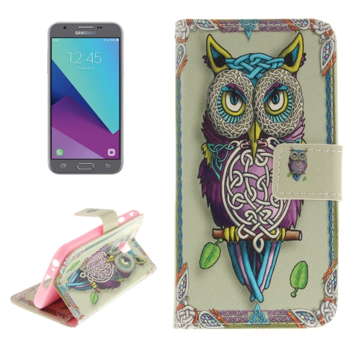 Buy For Samsung Galaxy J3, 2017 (EU Version) Owl Pattern Horizontal Flip Leather Case with Holder & Card Slots & Wallet for $2.56 in SUNSKY store