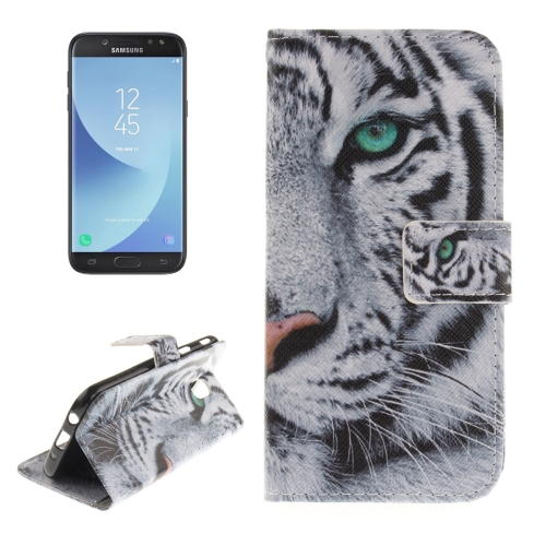 Buy For Samsung Galaxy J5, 2017 (EU Version) Tiger Pattern Horizontal Flip Leather Case with Holder & Card Slots & Wallet for $2.54 in SUNSKY store