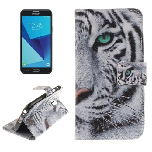 Buy For Samsung Galaxy J7, 2017 (EU Version) Tiger Pattern Horizontal Flip Leather Case with Holder & Card Slots & Wallet for $2.56 in SUNSKY store
