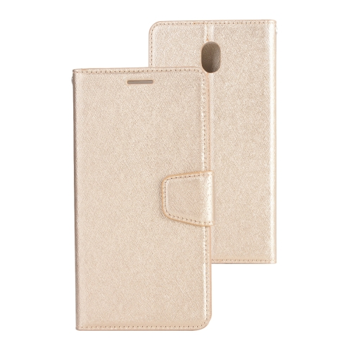 Buy For Samsung Galaxy J3, 2017 (EU Version) Silk Texture Horizontal Flip Leather Case with Holder & Card Slots & Wallet & Photo Frame, Gold for $3.18 in SUNSKY store