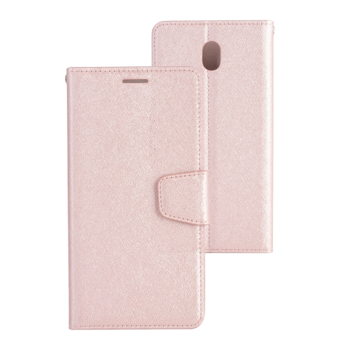 Buy For Samsung Galaxy J3, 2017 (EU Version) Silk Texture Horizontal Flip Leather Case with Holder & Card Slots & Wallet & Photo Frame (Rose Gold) for $3.18 in SUNSKY store