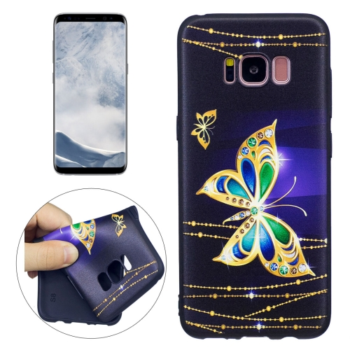 Buy For Samsung Galaxy S8 Golden Butterfly Pattern Stereo Relief TPU Protective Back Cover for $2.03 in SUNSKY store