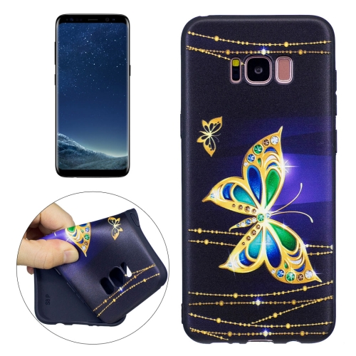 Buy For Samsung Galaxy S8 + / G955 Golden Butterfly Pattern Stereo Relief TPU Protective Back Cover for $2.02 in SUNSKY store