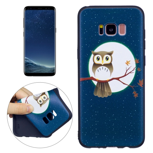 Buy For Samsung Galaxy S8 + / G955 Owl Under the Moon Pattern Stereo Relief TPU Protective Back Cover for $2.03 in SUNSKY store