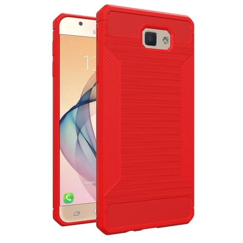 Buy For Samsung Galaxy J5 Prime Brushed Texture TPU Anti-slip Soft Protective Case, Red for $1.88 in SUNSKY store