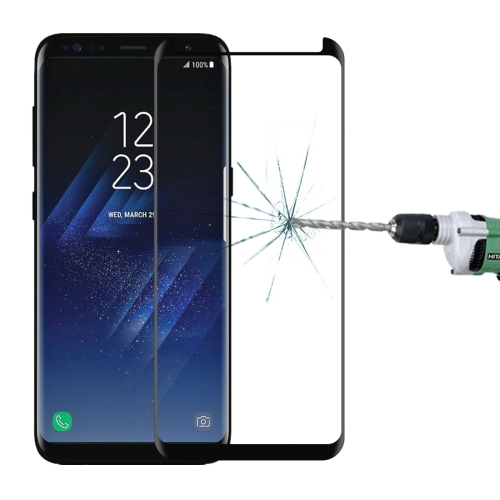 For Galaxy S8+ / G955 0.26mm 9H Surface Hardness 3D Explosion-proof Non-full Edge Glue Screen Curved Case Friendly Tempered Glass Film(Black)