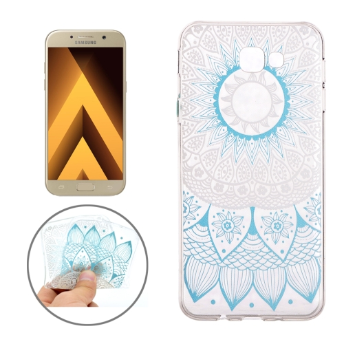 Buy For Samsung Galaxy A3, 2017 / A320 Blue Flower Buds Pattern Soft TPU Protective Back Cover Case for $1.16 in SUNSKY store