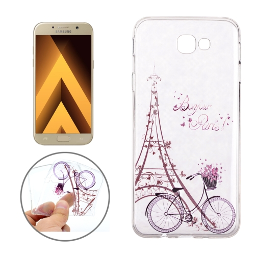 Buy For Samsung Galaxy A3, 2017 / A320 Tower and Bicycle Pattern Soft TPU Protective Back Cover Case for $1.16 in SUNSKY store