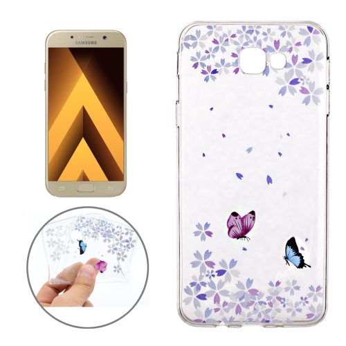 Buy For Samsung Galaxy A3, 2017 / A320 Colorful Butterflies Pattern Soft TPU Protective Back Cover Case for $1.16 in SUNSKY store