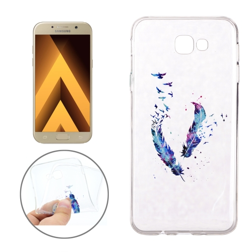 Buy For Samsung Galaxy A3, 2017 / A320 Feather Pattern Soft TPU Protective Back Cover Case for $1.16 in SUNSKY store