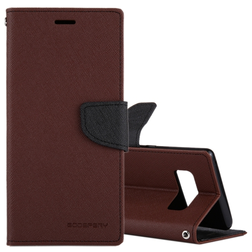 Buy MERCURY GOOSPERY FANCY DIARY for Samsung Galaxy Note 8 Cross Texture Horizontal Flip Leather Case with Card Slots & Wallet & Holder, Brown for $3.84 in SUNSKY store