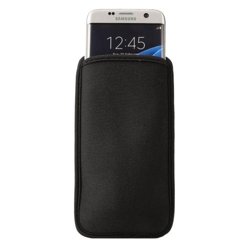 Buy Neoprene Cell Phone Bag for Samsung Galaxy S7 Edge / G935 & S6 Edge / G925, Size:9.0*16.5cm, Black for $1.20 in SUNSKY store
