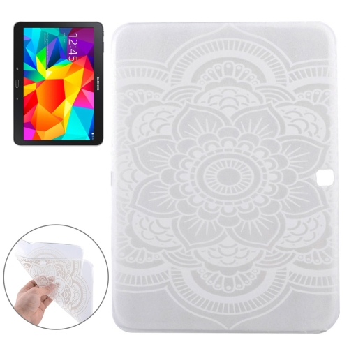 All the Flowers Pattern Soft TPU Protective Case for Samsung Galaxy Tab 4 10.1 / T530